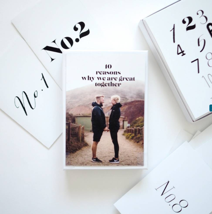 Personalised 10 Reasons Why We Are Great Together Cards