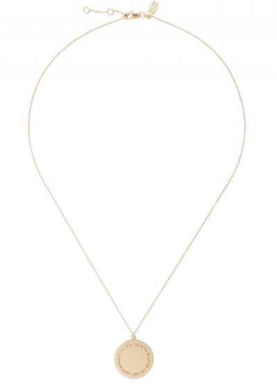 I Love to Be Loved Gold Plated Necklace