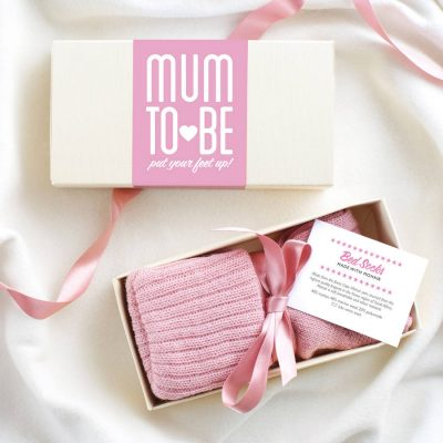 Personalised Mum To Be Bed Socks