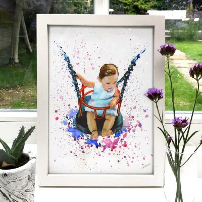 Baby Portrait Illustration Painting