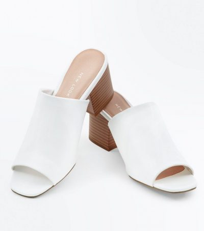 Wood Block Heel Mules