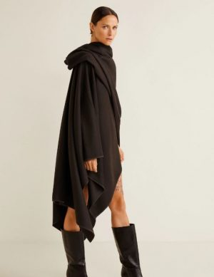 Recycled wool-blend cape