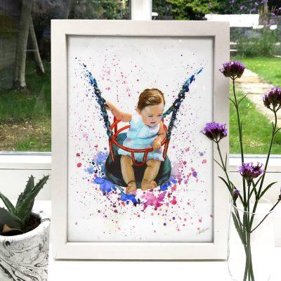 Baby Portrait Illustration Painting