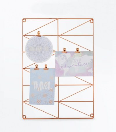 Rose Gold Geometric Wire Photo Display