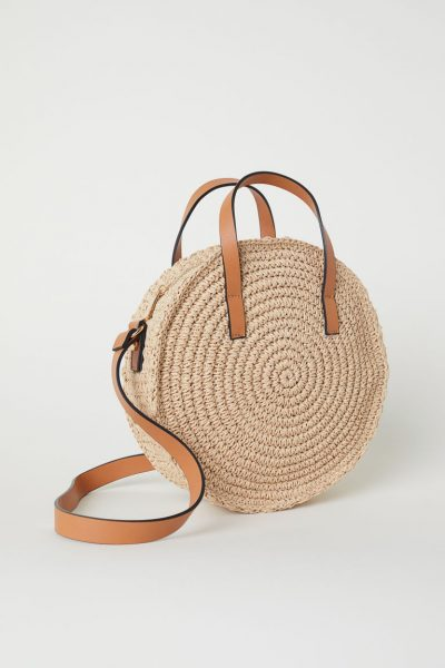 H&M Round paper straw handbag