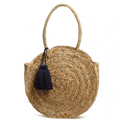 Phase Eight – Natural Mimi straw shopper with tassels