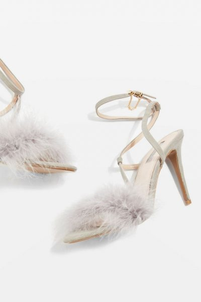 Feather Skinny Sandals