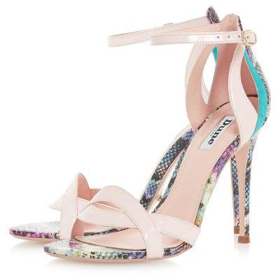 Multi colored heeled sandal