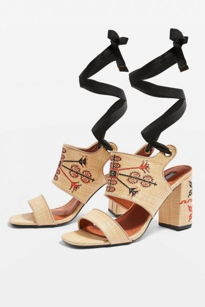 Roxanne Embroidered Sandals