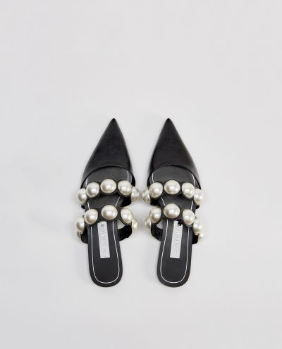 Mules with Pearl Beads