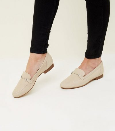 Off White Leather Loafers