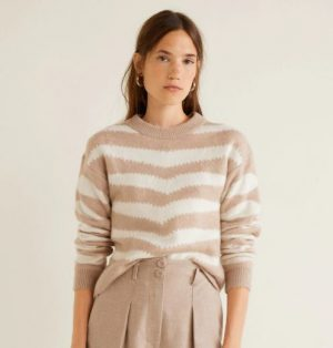 Zebra textured sweater