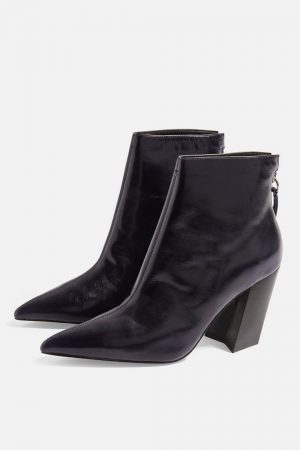 Angled Heeled Boots
